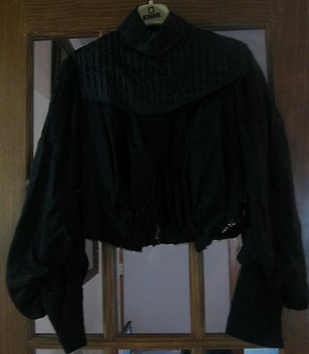 Antique/vintage blouse, turn of the century, black in color, lots of detail