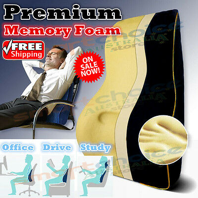 Memory Foam Lumbar Back Support Cushion Seat Pillow Home Car Office Back Cushion