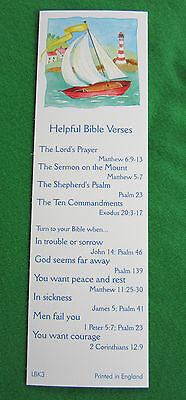 12 Bookmarks, Helpful Bible verses. helps find things in the Bible EB015