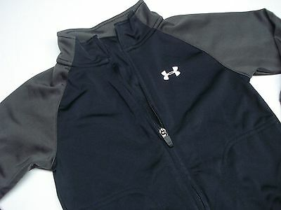Under Armour Black And Gray Boys Toddler Zip Up Sweatshirt Track Jacket Size 3T