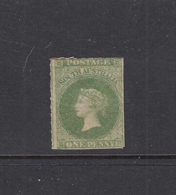 SOUTH AUSTRALIA: 1860-69 QV 1d Bright Yellow-green rouletted SG 19 £130 MLH.