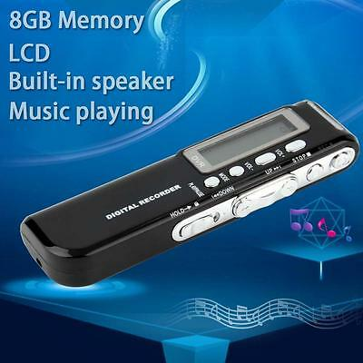 Rechargeable 8GB 650Hr Digital Audio Sound Recorder Dictaphone MP3 Player Hot DH