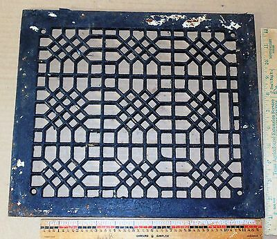 Antique VICTORIAN Cast Iron Floor Air vent Grate - Home Decor