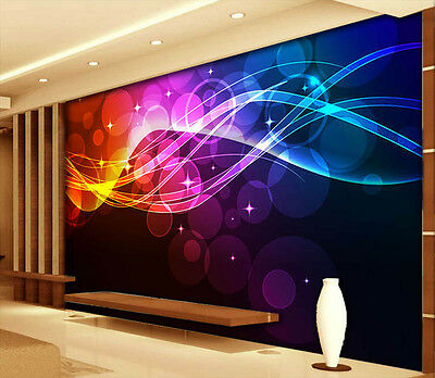 Fluctuant Light 3D Full Wall Mural Photo Wallpaper Printing Home Kids Decoration