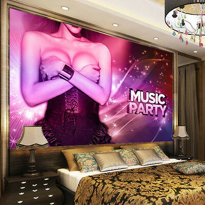 Music Big Party 3D Full Wall Mural Photo Wallpaper Printing Home Kids Decoration