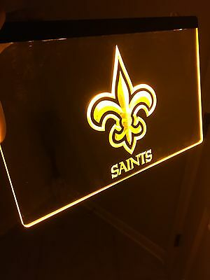 New Orleans SAINTS LED Neon Sign for Game Room,Office,Bar,Man Cave, Decor. NFL