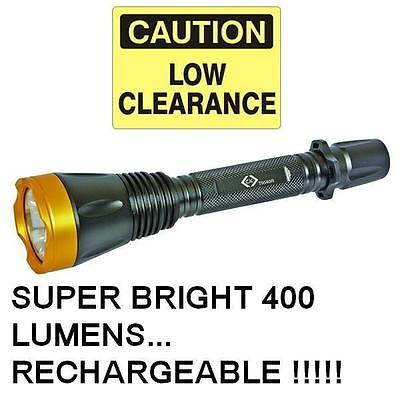 C.K T9540R - Rechargeable Very Bright 400 Lumen Large LED Hand Torch Lamp Light