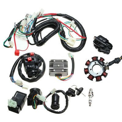 ATV QUAD 125 150 200cc 250cc Stator CDI Coil Electric Wiring Harness Wire Loom