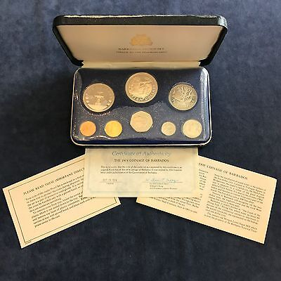 1974 Barbados Proof Set - Franklin Mint - Includes Silver - Free Shipping USA