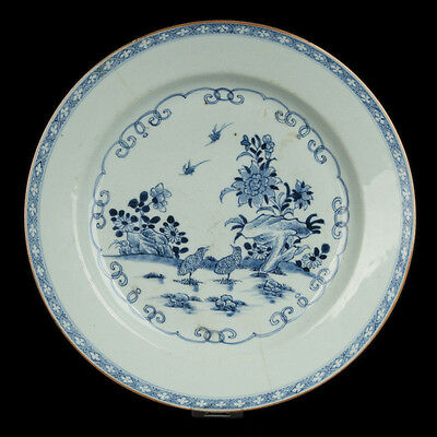China 18. Jh. Großer Qianlong Teller -A Chinese Blue & White Dish Cinese Chinois