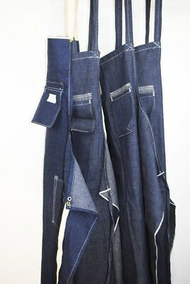 Vintage Selvedge Self Edge 40-50s Denim Apron 4x LOT DEAD STOCK NEW