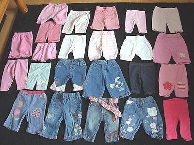 Large Bundle 23 x Baby Girl 0-3 Months Leggings + Jeans + Shorts + Trousers