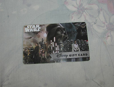 Disney Star Wars Rogue One Gift Card - No Balance, $0, Empty Collectible Card