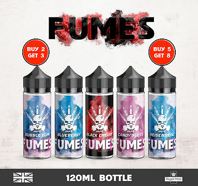 ⭐120ml VG/PG E-LIQUID VAPE JUICE  ELIQUID BUY 2 GET 1 FREE FUMES  12x10⭐