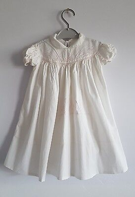 Vintage Holt Renfrew Girls White Summer Dress