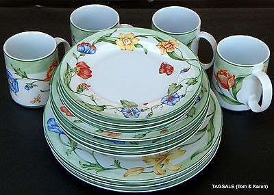 COVENTRY PTS china SECRET GARDEN  ~ 16 Piece Set, Dinner for 4 or 8 ~ MICROWAVE