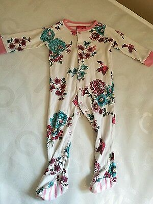 joules floral babygro / sleepsuit size 9-12months