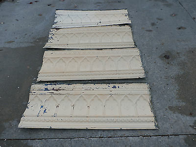 Antique / Vintage Ceiling Tin Crown / Cornice Molding Reclaimed Salvage