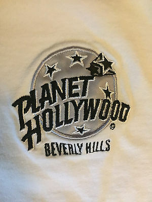 Vintage Beverly Hills Planet Hollywood Shirt M EUC White Excellent Condition!