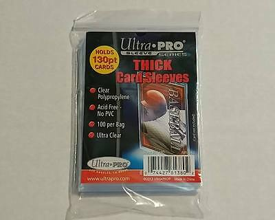 "Ultra Pro - 1 Pack of 100 - Extra Thick Card Soft ""Penny"" Sleeves 130pt"