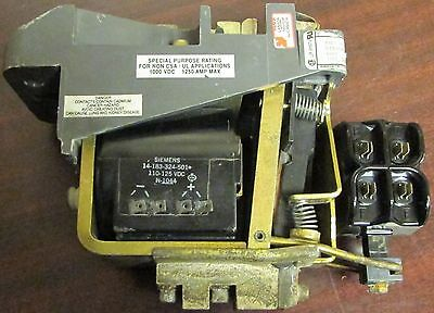 HUBBELL SIEMENS 14 193 100 582 600V Type 700 Contactor 125VDC 1250 Amp