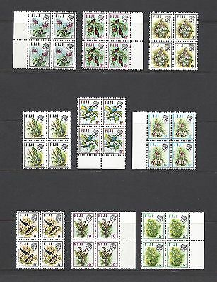 FIJI 1971-72 SG 435/50 MNH Blocks of 4 Cat £160