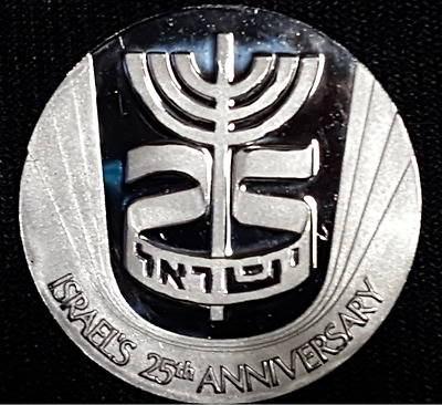 1973 Israel 25th Anniversary 1 Troy Oz Pure Platinum Official Medal Zodiac OGP