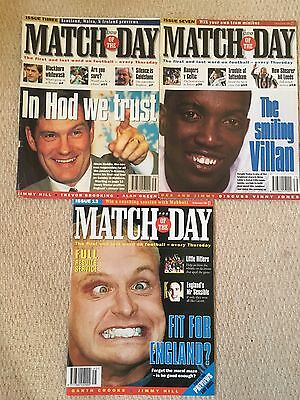 Match Of The Day Football Magazine x3 Issues 3, 7 and 13