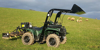 New Wild Hare ATV Front Loader System with Bucket - 227kg lifting capacity
