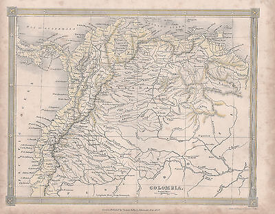 1842 map of Colombia by Alexender Findlay
