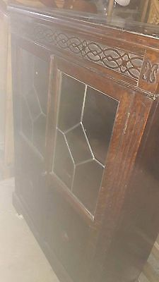 1950 oak book case with glass frout anf lockable