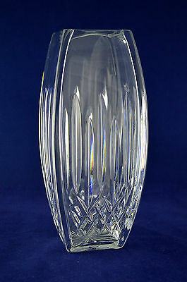"""Waterford Crystal """"LISMORE"""" Square Vase – 20.5cms (8″) Tall"""