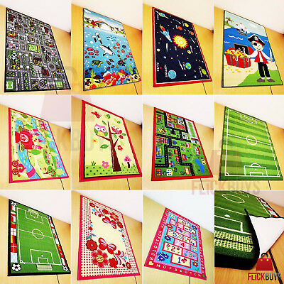 FlickBuys Kids Childrens Rug Mat Modern Design Play Mat Nursery Rugs Non Slip