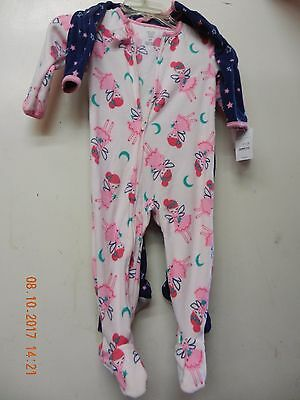 NWT, 2 Carter's Just One You Girl's Fairy Fleece Footed Sleeper, Size 2T