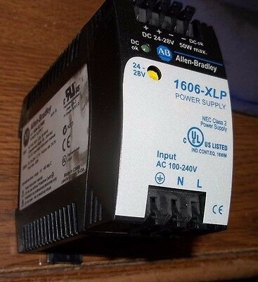 Allen Bradley 1606-Xlp50E Ser A Power Supply Class 2 24-28V Plc (I4)
