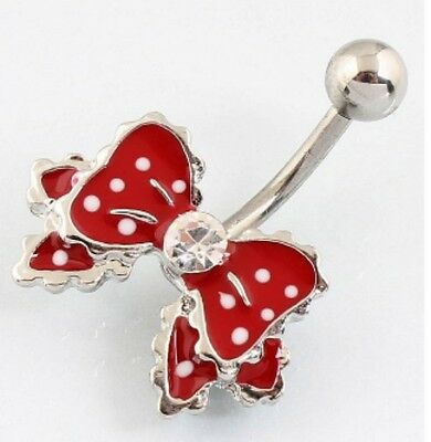 Piercing Belly Bar Ring per Ombelico Fiocco