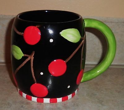 Sakura at Home MARY Engelbreit Ceramic Coffee Cup Mug Cherries