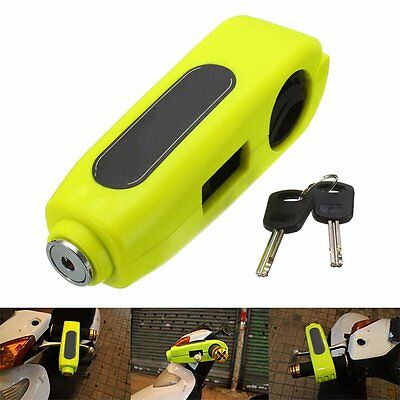 Audew Motorcycle Safety Lock Handlebar Throttle Grip Lock Easy To Use Green New