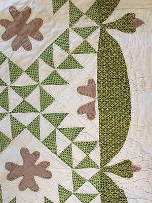 Graphic 1860S Ocean Waves Quilt ~ Swag Border!