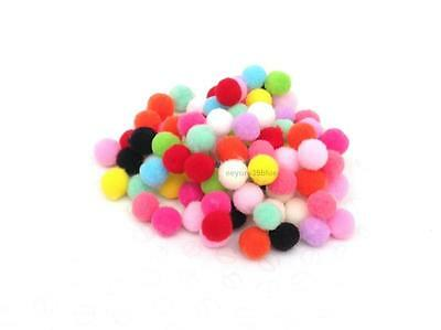 POM POMS Various Mixed Colours Size 8mm Mini Craft Halloween Decorative Poms