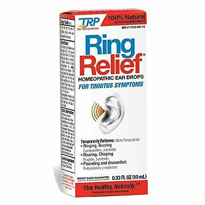Ring Relief Ear Drops Size .33z, Relieves Ringing Buzzing Chirping Discomfort