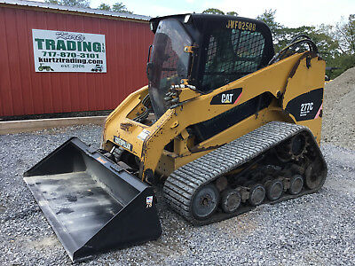 2011 Caterpillar 277C Tracked Skid Steer Loader w/ Cab High Flow!