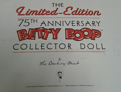 Danbury Mint Betty Boop 75th Anniversary Collector Doll