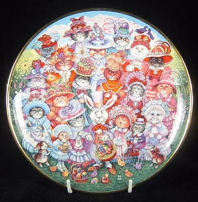 Franklin Mint 'Easter Purrade' Cats/Kittens Limited Edition Collector Plate