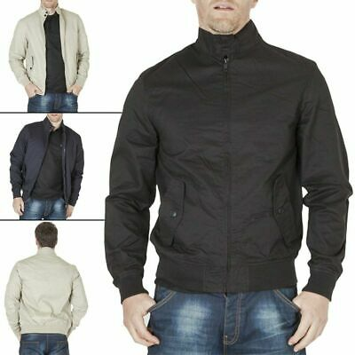 Mens Brave Soul Coat Poly Twill Bomber Retro Vintage Winter Jacket Long Sleeve M