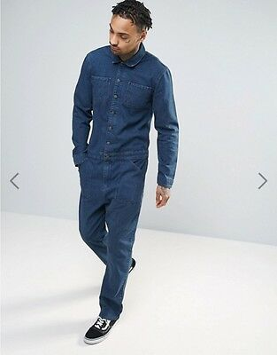 ASOS Men's Denim Boiler Suit Indigo 28/32