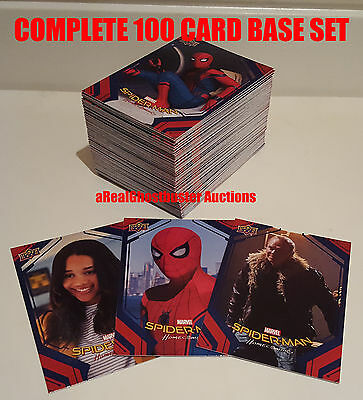 2017 Upper Deck Spider-Man Homecoming Complete 100 Card Base Set