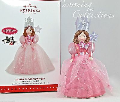 2015 Hallmark Glinda the Good Witch Ornament Madame Alexander Club Wizard of Oz