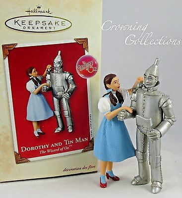 2003 Hallmark Dorothy and Tin Man Keepsake Ornament The Wizard of Oz Tinman RARE