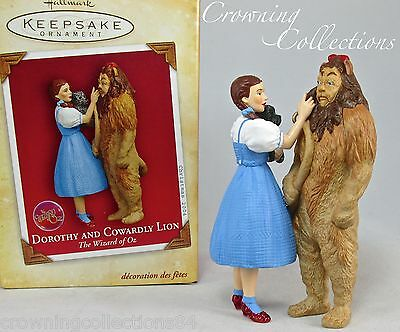 2004 Hallmark Dorothy and Cowardly Lion Keepsake Ornament The Wizard of Oz Toto